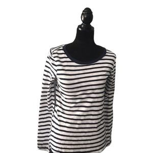 Splendid Cerine Button Back Striped Top